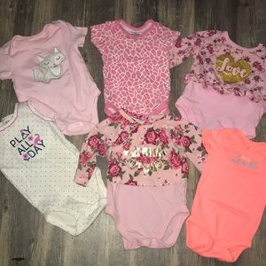 Baby girls size 0-3 months set of 6